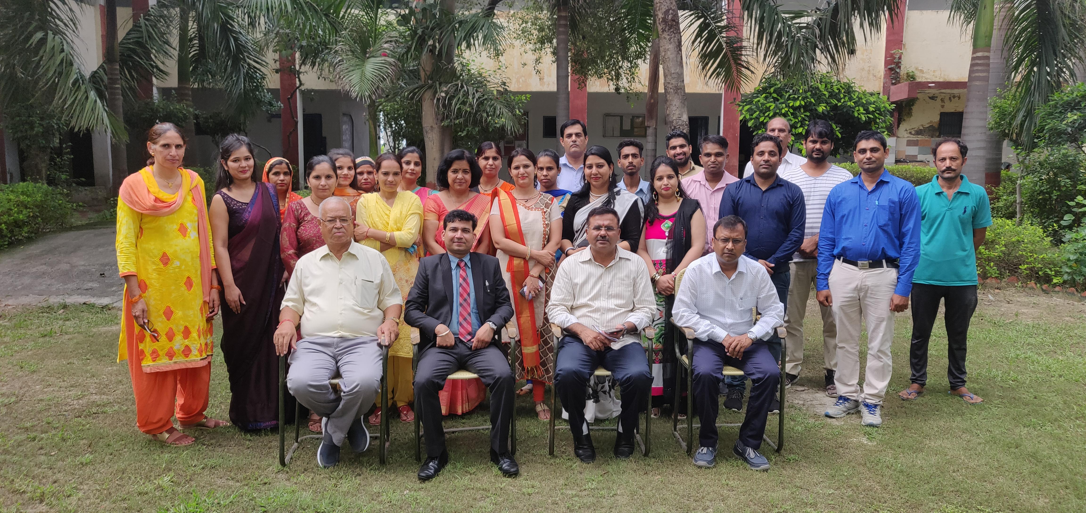 Orientation Day and Havan puja at Venkteshwara College of Education